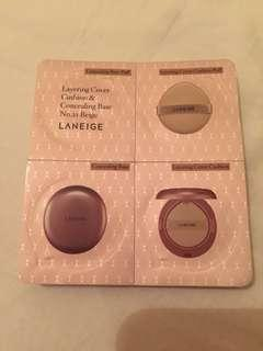 Laneige layering cover cushion & concealing base sample kit