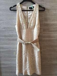 GUESS MARCIANO dress with belt size 2