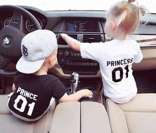 NEW! Princess & Prince Kids Tshirt