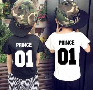 0 - 10 years old Prince Children Tshirt Top