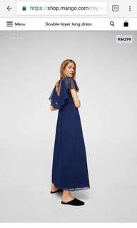 BNWT Mango double layer long dress