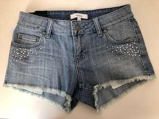 *Brand New* Talula Low Rise OC Shorts in Light Vintage (Size 25)