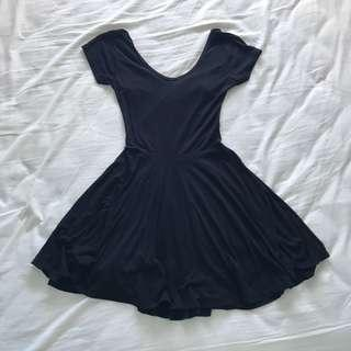 Little Black Backless Dress
