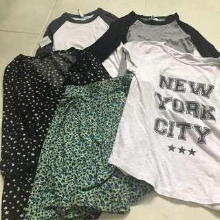 🌻BUNDLE GIRLS ASSORTED H&M UNIQLO COTTON ON CLOTHES  SIZE 11-13 YRS