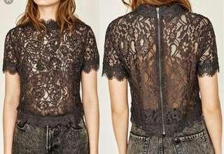 Zara Gray lace top