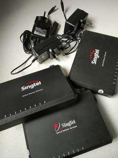 Optical terminal box with adapter and cable from Singtel
