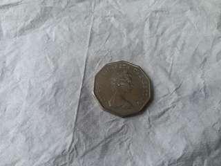 香港1976年伍圓硬幣