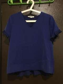 Blue flare top