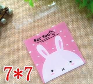 7x7cm Rabbit cookie Bags