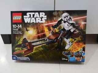 Lego 75532 Star Wars Buildable figure scout trooper speeder bike - brand new MISB box has creases