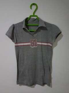 T-Shirt Abu/ Kaos Wanita Murah