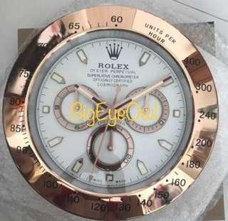 Rolex Wall Clock - Daytona Rose Gold (White Faced)