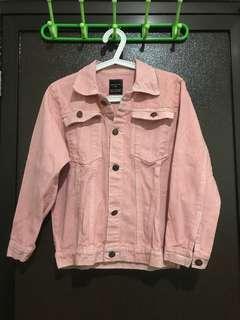 Zara pink jeans jacket