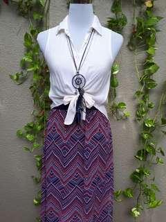 H&M coachella Aztec maxi skirt with side slit