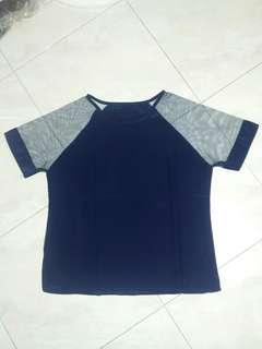 💜 NEW Navy Blue Tile Blouse