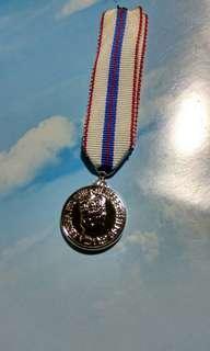 港英 1977年女皇登基銀禧紀念miniature 獎章