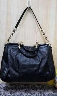 coach handy/shoulder leather bag