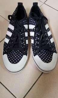Adidas authentic polka dot sneakers
