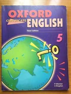 Oxford certificate English