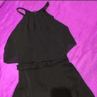 Black halter neck dress (semi-formal)