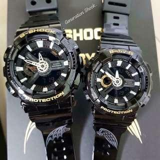 LIMITED EDITION💝COUPLE SET in BABYG GSHOCK DIVER SPORTS CASIO WATCH : 1-YEAR OFFICIAL WARRANTY: 100% ORIGINAL AUTHENTIC BABY-G-SHOCK in ABSOLUTELY TOUGHNESS Best Gift For Most Rough Users : SLV-18A-1 / SLV18A / SLV-18 / SLV18 / GA-110 / BA-110 / G SHOCK