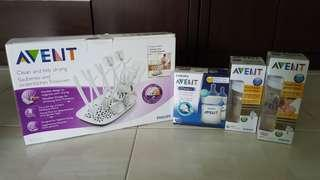 🚚 Avent Bottles with drying rack