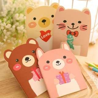 🚚 Birthday Party Favours / Christmas gifts @ $1 & below!!! Beary Cute Notebooks @ $0.80 per pc or $3 for a pack of 4 or $6 for a pack of 10!!!