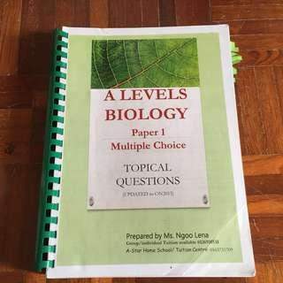 A Level Past Year Papers