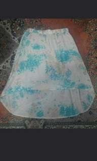 Floral long back skirt