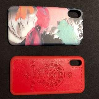 二手 iPhone X 保護殻 藝術人生質感出眾 買1送1 紅色喜慶大方呈現 實物拍攝安心放心賺很大cp值高