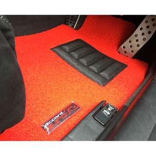 HONDA ACCORD EURO R JDM MODEL CL7 OEM FITMENT CAR FLOOR MAT..FRONT DRIVER/PAX  & REAR PASSENGER RED PVC 05 PCS OTHER COLOR AVAILABLE - BLACK, GREY ,BEIGE ,BROWN & BLUE...