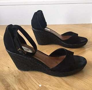Size 8 - Kenji Black Wedges