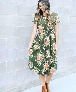 Green Anastasia dress