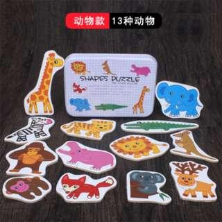 Baby' First Puzzle - 2-piece Shape Puzzles