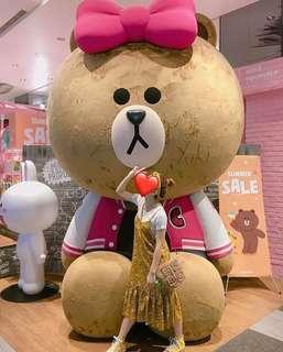 韓版黃花色吊帶裙