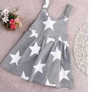 In Stock/PreOrder- Girls Summer Stars Dress