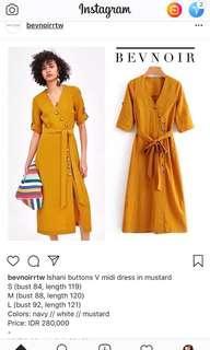 Bevnoir dress mustard