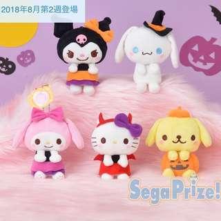 三個pose 公仔杯緣子 日本正版公仔 Sanrio my melody hello kitty Halloween 萬聖節