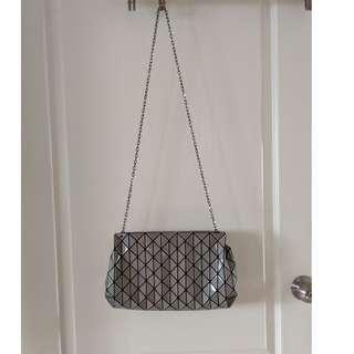 Issey Miyake BaoBao Row Gloss Grey Shoulder Bag