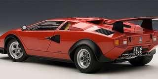 Auto Art Autoart Lamborghini Countach Walter Wolf Racing Edition Red