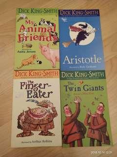 4 Dick King-Smith books