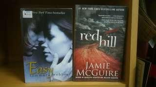 Easy by Tamara Webber and Red Hill by Jamie McGuire