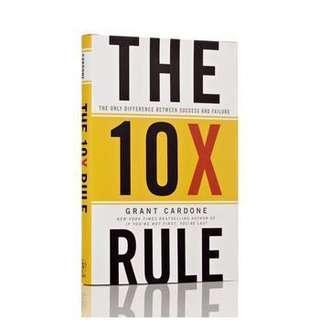 🚚 The 10X Rule: The Only Difference Between Success and Failure Book by Grant Cardone