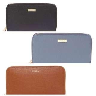 BRAND NEW FURLA Classic XL Zip Around Leather Wallet