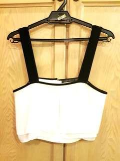 Zara White Crop Blouse