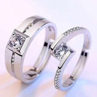 S925 Silver Couple Rings