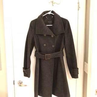 Talula Babaton - dark grey wool coat (size small)
