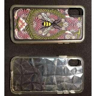二手 iPhone X 保護殻 刺繡藝術人生蜂王的祈禱 買1送1 鑽石透明套住全場 實物拍攝安心放心 隨便賣只要149