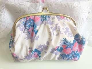Paul & Joe 🎀 碎花 化妝袋 make up bag 筆袋 旅行袋 化妝包 藍色
