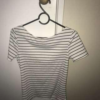 Stripe tight top - White and Black